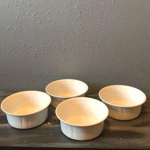 White ceramic Oneida Soup bowls